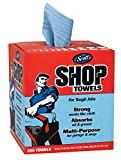 Kimberly-Clark Professional 75190 Scott Shop Towels, Pop-Up Box with 200 per Box, Blue (Pack of 8)