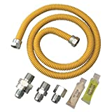 24 gas dryer - Watts 20A-2131V4KIT-TS-24B Gas Appliance Connector Kit, 24 inches