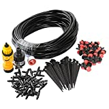theBlueStone DIY 82FT 30 Drippers Drip Irrigation System Kits Garden Greenhouse Backyard for 30 Plants Automatic Watering Equipment Accessories