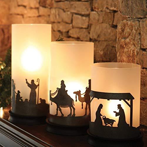 DaySpring Nativity Hurricane Candle Holder Trio
