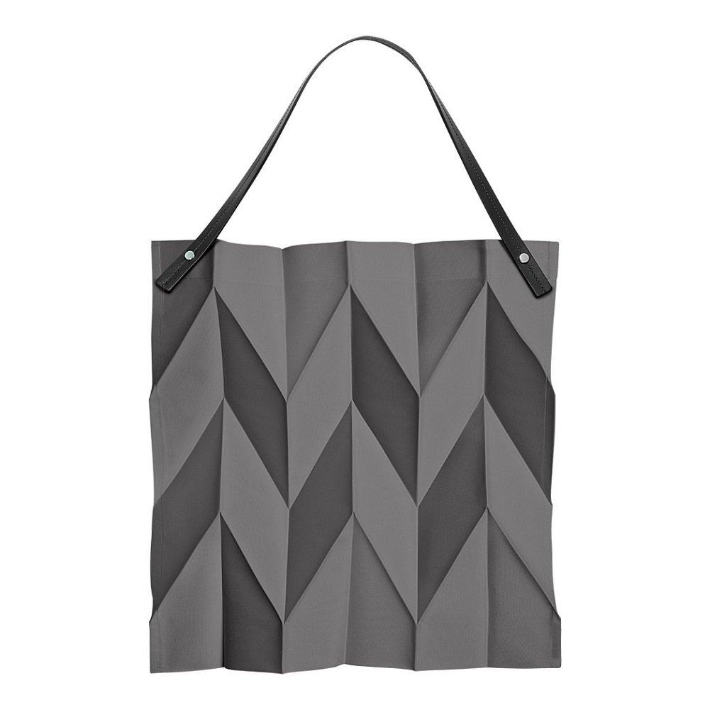 Iittala X Issey Miyake Foldable Tote Bag 42 x 43 cm, Dark Grey by Iittala