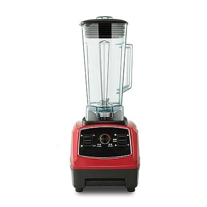 YI HOME- Batido De Hielo Smoothie Machine Red Automático Jugo De Fruta Commercial Household Alimentos