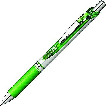 3 x Pentel BL77 EnerGel Retractable Gel Rollerball Pen 0.7mm Tip Green Ink