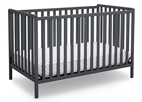 1 Iron Crib - Delta Children Heartland 4-in-1 Convertible Crib, Charcoal Grey