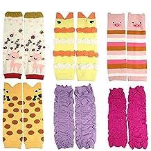 KF Baby Girls Toddler Cozy Soft Leg Warmers, Set of 6 Pairs
