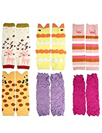 KF Baby Girls Toddler Cozy Soft Leg Warmers, Set of 6 Pairs
