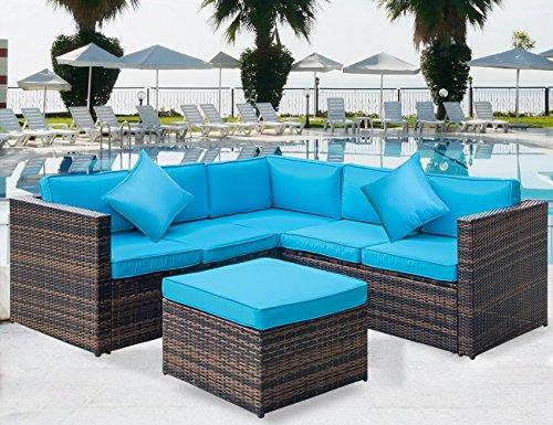 Amazon.com: Merax Juego de 4 piezas de muebles de verano ...