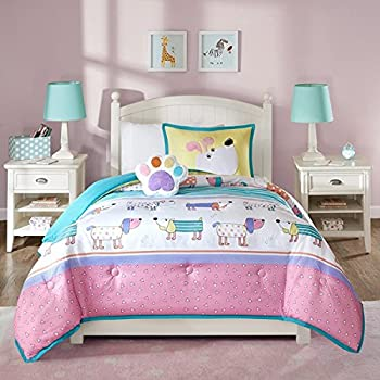 Amazon Com Kids Puppy Love 7 Pc Bed In A Bag Bedding Set