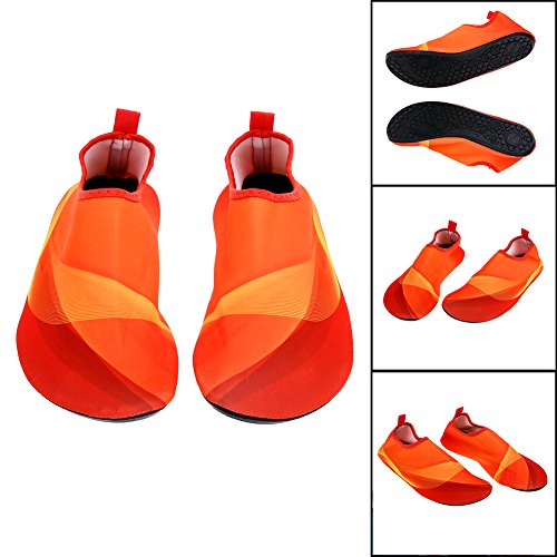 Neaer 1 Pair Unisex Lightweight Summer Non-slip Aqua Beach Shoes Diving Socks Outdoor Pool Water Sport Shoes Swimming Fins M-3XL Orange aE7DpkYZ