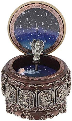 Jeffergarden Caja de Música Vintage con 12 Constelaciones, Diosa giratoria, luz LED Parpadeante Regalo(Cancer): Amazon.es: Hogar