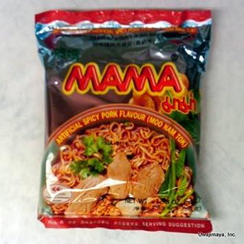 Amazon com : Mama - Instant Noodles - Artificial Spicy Pork