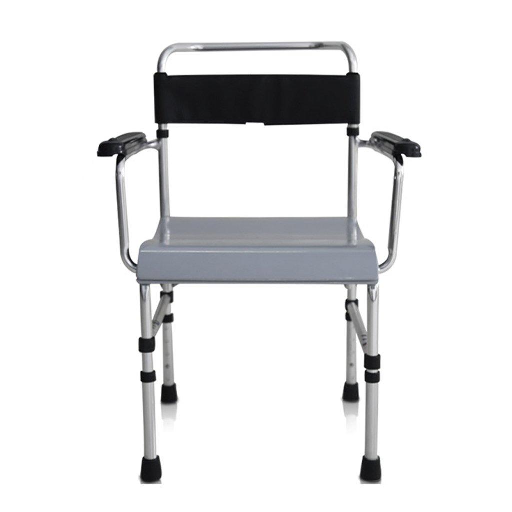 LXN 折りたたみ式トイレ椅子とトイレの椅子のバスルームのアンチスリップ調節可能な高さのバスルームシャワーのスツール高齢者/妊婦/障害者のトイレの椅子 B07DTZKXN6