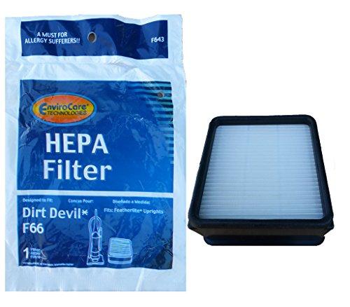 1 Dirt Devil F66 HEPA Filter #440003887 Upright Vacuum 30470