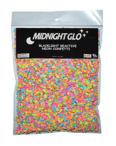 (Midnight Glo Blacklight Reactive Neon Confetti Shred Great for Party Favors & Birthday Party Accessories (1oz))