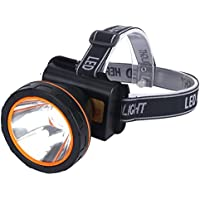 Headlamp Led Flashlight FISHBERG Waterproof Rechargeable Headlight for Camping Hunting Fishing Hiking (White) by FISHBERG