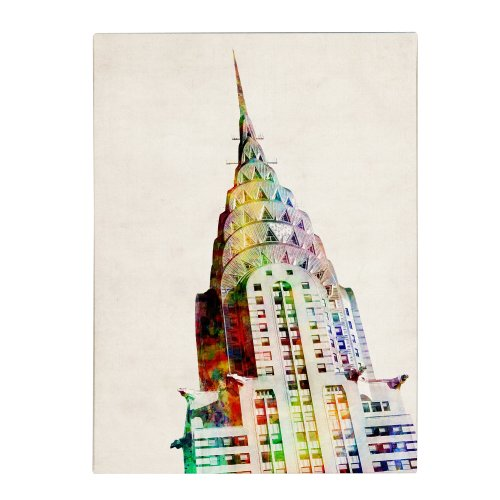 Chrysler Building  by Michael Tompsett, 18 by 24-Inch Canvas Wall Art