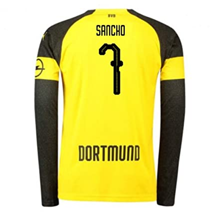 76aa6b65a33 Image Unavailable. Image not available for. Color  2018-2019 Borussia  Dortmund Home Long Sleeve Puma Football Soccer T-Shirt Jersey (