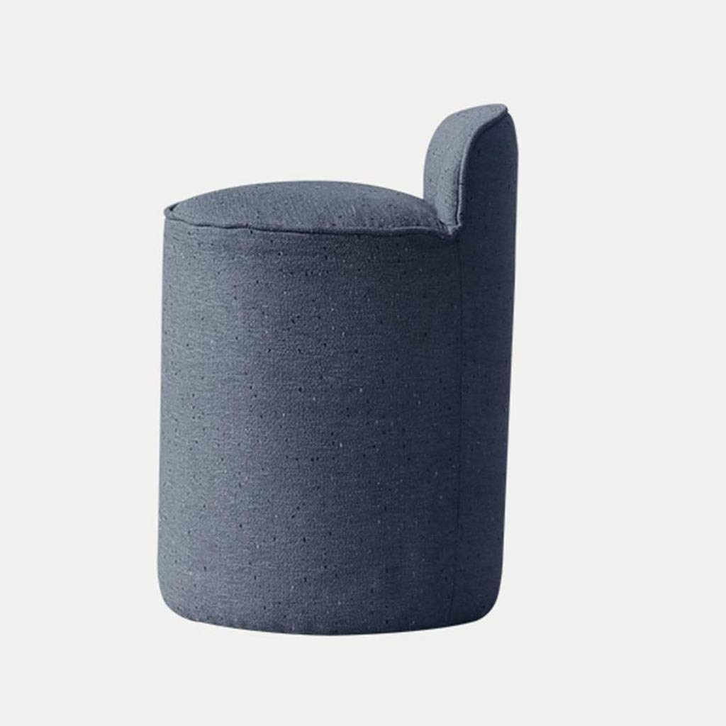 bh+ Osmanische Fußhocker Hocker Fußhocker Tritthocker Bambushocker Nordic-Dressing-Hocker Stoff-Make-up-Hocker Schminktisch-Hocker Make-up-Stuhl Schlichter moderner Dressing-Stuhl (Farbe: Blau)