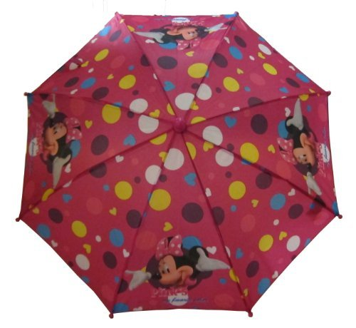 Girl's Disney Minnie Mouse Bowtique Pink Umbrella - With 3D Handle