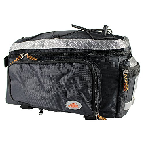 Ezyoutdoor Rear Rack Bike Bag Bicycle Trunk Cycling Pannier Pack Case for Riding Camping Hunting Outdoor Sports Picnic