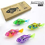 BlackHole Litter Mat Interactive Swimming Robot Fish Toy for Cat Dog with LED Light (4 pcs) - Cat & Dog Toy to Stimulate Your Pet's Hunter Instincts