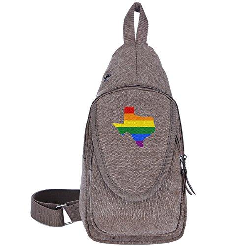 g Bag LGBT Flag Texas Map Crossbody Canvas Travel Backpack Shoulder (William Joseph Fly Vest)