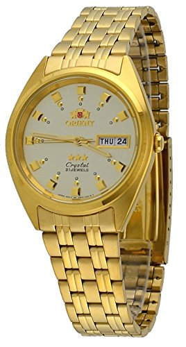 Gold Case Champagne Dial (Orient #FAB00001C Men's 3 Star Standard Gold Tone Champagne Dial Automatic Watch)