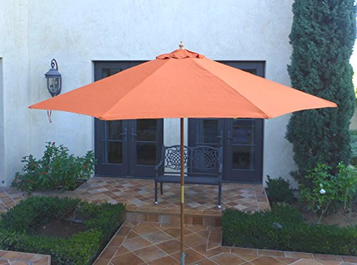 Formosa Covers Replacement Umbrella Canopy for 11ft 8 Rib Outdoor Market or  Patio in Terra (Canopy Only)