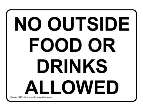 ComplianceSigns Aluminum sign 14 x 10 in. with Food Prep / Kitchen Safety message - White