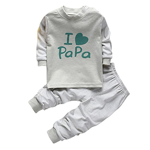 Pumsun ❤️ Baby Boys Clothes Suit Outfit Kids Infant Page Boy Party Suits Outfits Sets 2pcs (110, Gray)