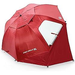 Sport-Brella XL Portable All-Weather and Sun Umbrella. 9-Foot Canopy. Deep Red