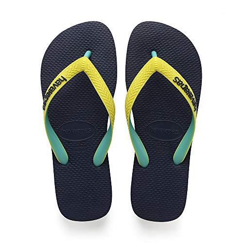femme Yellow Mix 0821 Havaianas Top neon Tongs navy Homme qAAHEn0