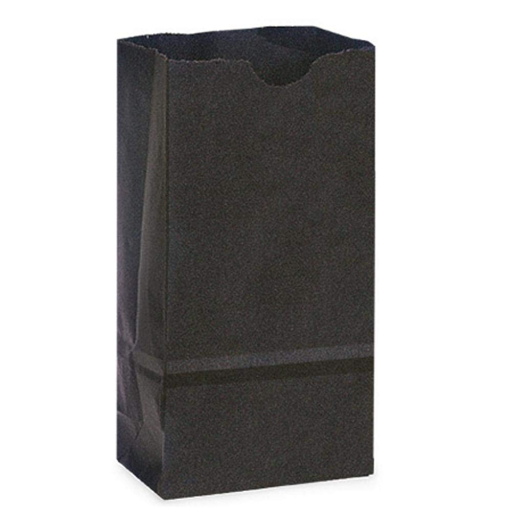 NW ブラックリサイクル紙ギフトバッグ- 2ポンドサイズ - 4 1/4 x 2 3/8 x 8 3/16インチ ブラック NW-GB2BK 1000  B07GRD58C5
