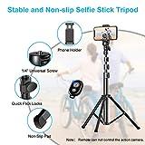 "Bcway Phone Tripod, 51"" Extendable Selfie Stick"