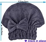 MAYOUTH Microfiber Hair Drying Towels Head wrap