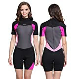 Unisex Short Sleeve 2MM Neoprene Wetsuit Men for Surfing...