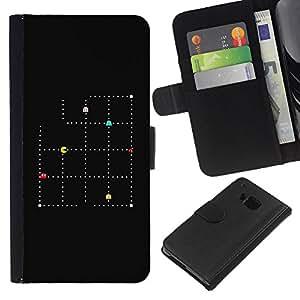 All Phone Most Case / Oferta Especial Cáscara Funda de cuero Monedero Cubierta de proteccion Caso / Wallet Case for HTC One M9 // Minimalist Pc Game Retro Hipster