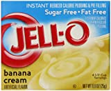 Jell-O Sugar-Free Instant Pudding and Pie Filling, Banana Cream, 0.9-Ounce Boxes (Pack of 6)