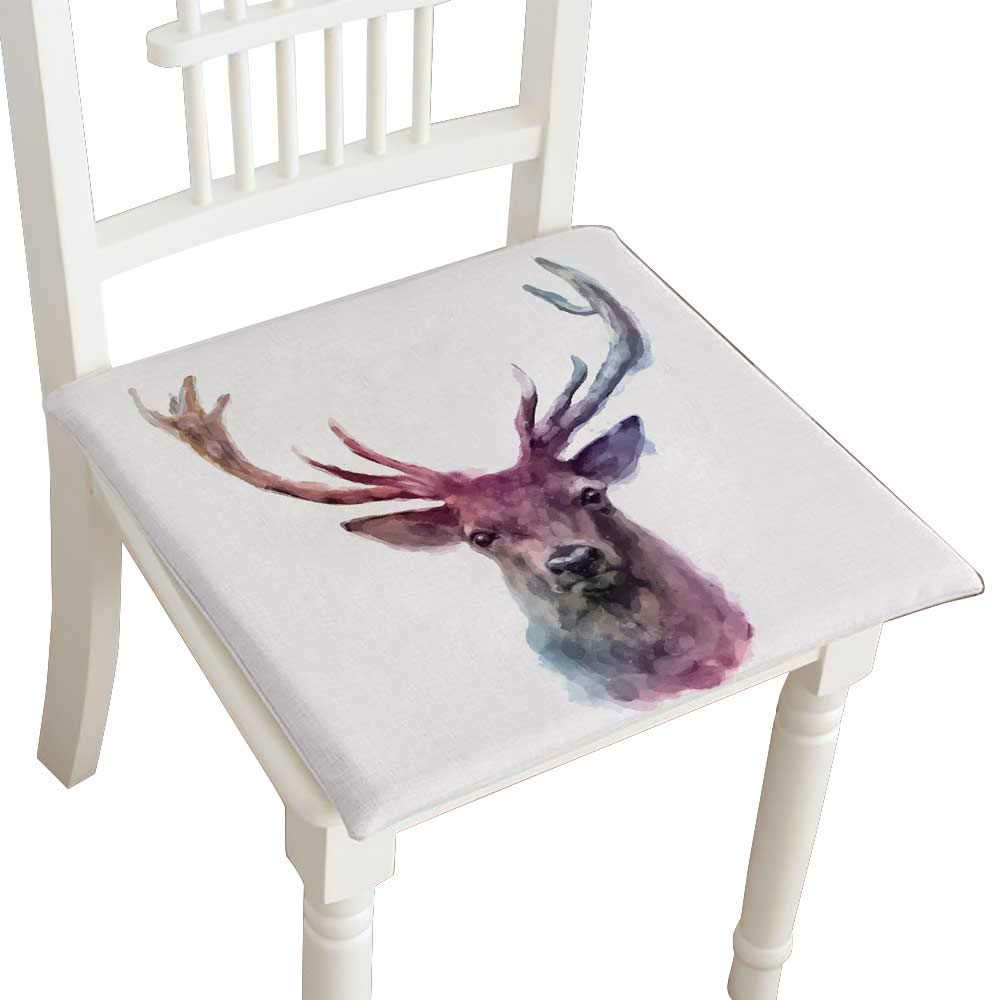 HuaWuhome Classic Decorative Chair pad Seat Animals Cushion with Memory Filling 14''x14''x2pcs