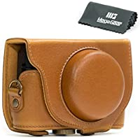 MegaGear Ever Ready Protective Light Brown Leather Camera Case , Bag for Sony Cyber‑shot DSC‑RX100 V, DSC-RX100M II, DSC-RX100 III, DSC-RX100 IV Digital Camera