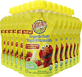 Earth's Best Organic Fruit Yogurt Smoothie, Strawberry Banana, 4.2 Ounce (Pack Of 12) 3