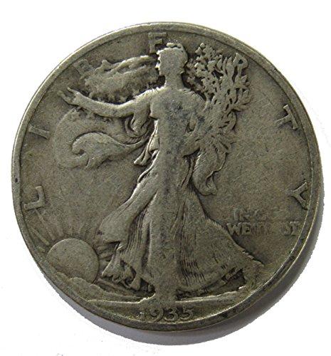- 1935 S Walking Liberty Half Dollar 50c Very Fine