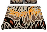 Kess InHouse Viviana Gonzalez Africa - Abstract Pattern I Brown Orange Twin Cotton Duvet Cover, 68 by 88-Inch