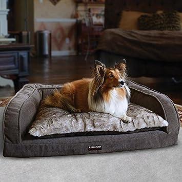 Kirkland Signature reforzado pillow-top sofá cama para Mascota con diseño de textura, color gris: Amazon.es: Productos para mascotas