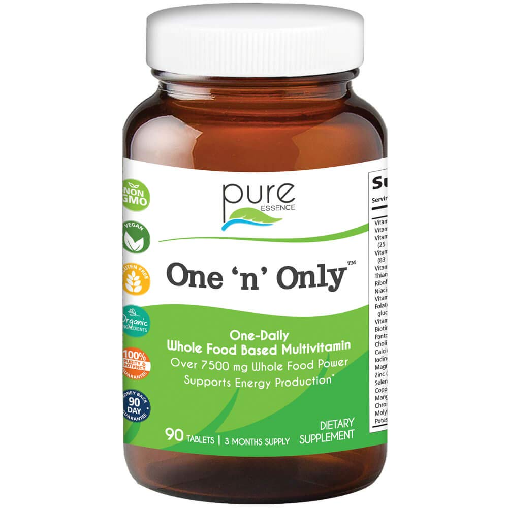 Pure Essence Labs One n Only – World s Most Energetic One Daily Multiple – 90 Tablets