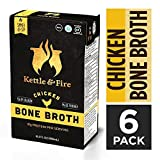 Chicken Bone Broth Soup by Kettle and Fire, Pack of 6, Keto Diet, Paleo Friendly, Whole 30 Approved, Gluten Free, with Collagen, 10g of protein, 16.2 fl oz Larger Image