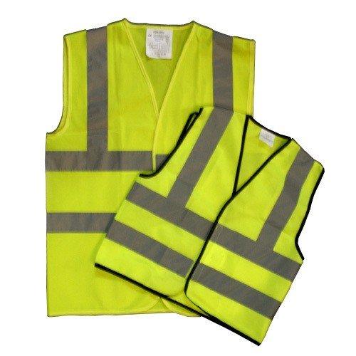 /Jaune Haute Visibilit/é Gilet haute visibilit/é visibilit/é Gilet de s/écurit/é pour femme EN471/standard de travail Taille XL Extra Large Guilty Gadgets/®/