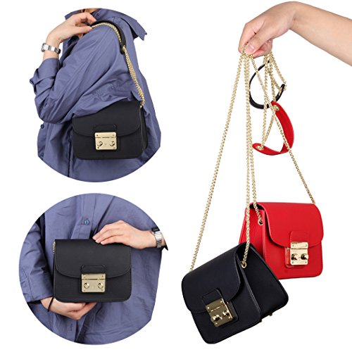 Crossbody Clutch with Chain Purse Small Clutch for Chain Removable Wedding Crossbody Red Size small Black for bags Black Women dHY7XYx