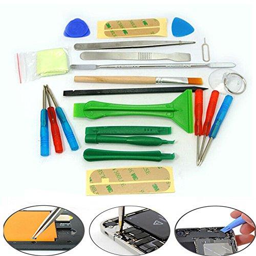 21 in 1 Repair Opening Pry Tools Screwdriver Kit Set for Mobile Smart Phone iPhone (White Phone Covers Fascia)