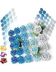 Cookoa 100 Rosas Artificiales (Azul)